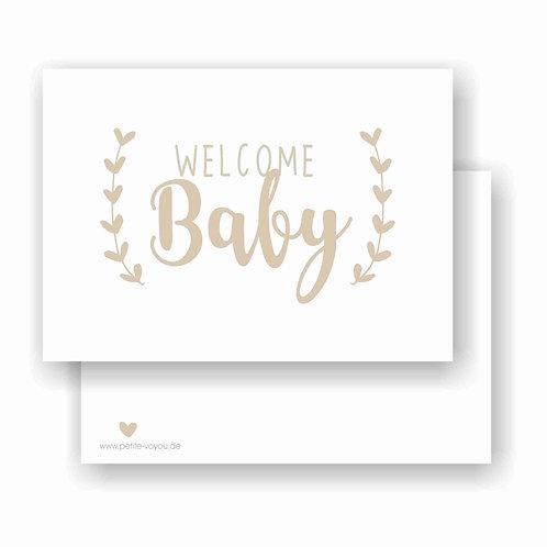 WELCOME Baby // Postkarte