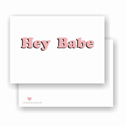 Hey Babe pink // Postkarte