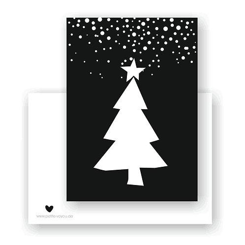 TANNE schwarz // Postkarte