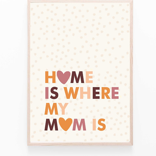 HOME IS.... wood // Poster A2