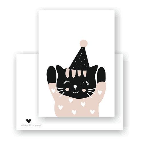 jubel cat // Postkarte