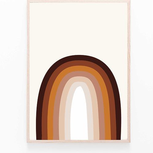 rainbow  II wood // Poster A2
