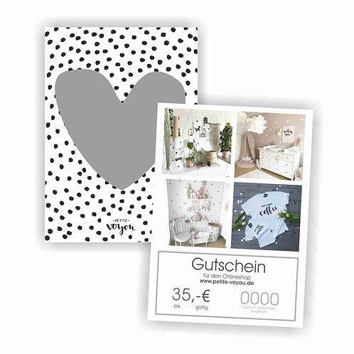 GUTSCHEIN // 35€