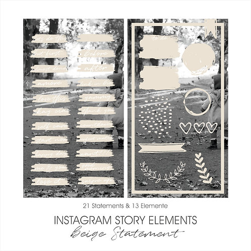 INSTAGRAM STORY ELEMENTS // nude Statement