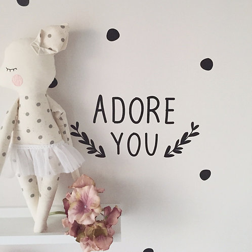 ADORE YOU // Wandsticker