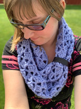 Chunky Time Warp Lace Infinity Scarf