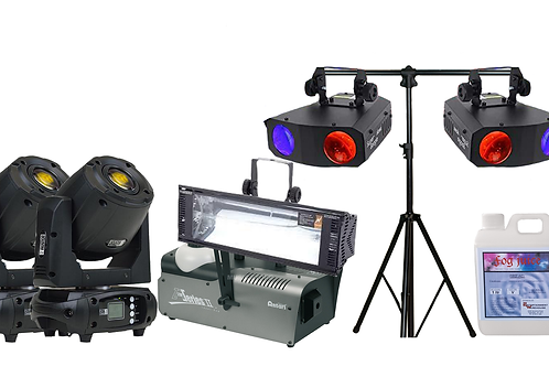 Ultimate Disco Boogie Light, Strobe, Moving Head Lamp & Smoke Party Pack