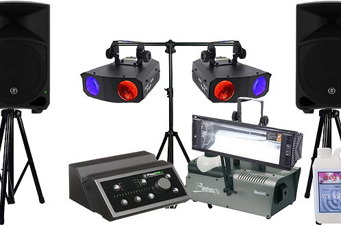 Powered Speakers & Lighting Party Pack