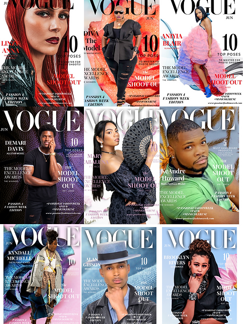 Custom Vogue Challenge Magazine Cover