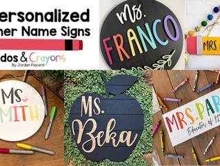 17 Cute Customized Teacher Last Name Signs