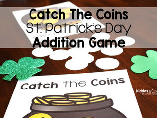 Catch the Coins Free St. Patrick's Day Addition Center Game