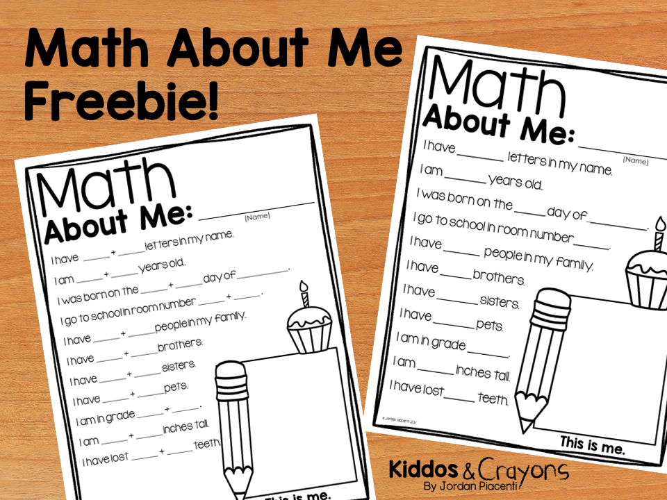 math about me free worksheets