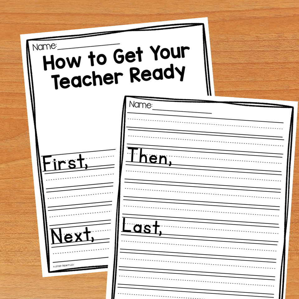 How to Get Your Teacher Ready back to school writing activity.