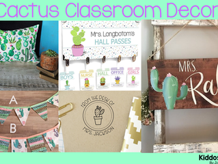 9 Succulent Decor Accents for Your Cactus Themed Classroom
