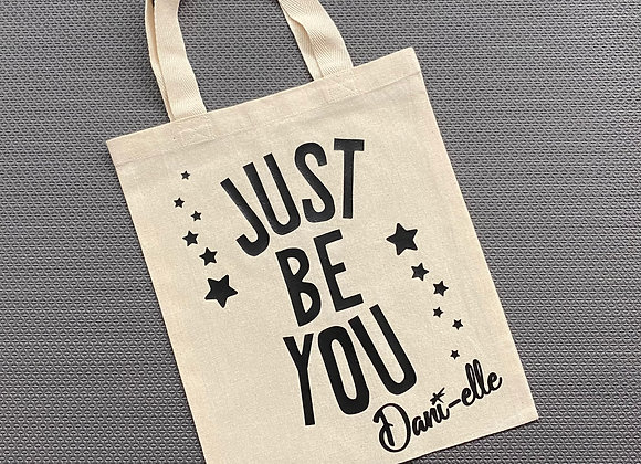 """9.5"""" x 11.5"""" 'Just Be You' Canvas Bag"""