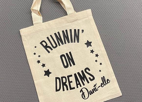 "9.5"" x 11.5"" 'Runnin' on Dreams' Canvas Bag"