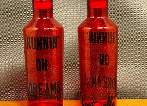 """""""Runnin' on Dreams"""" Water Bottle"""