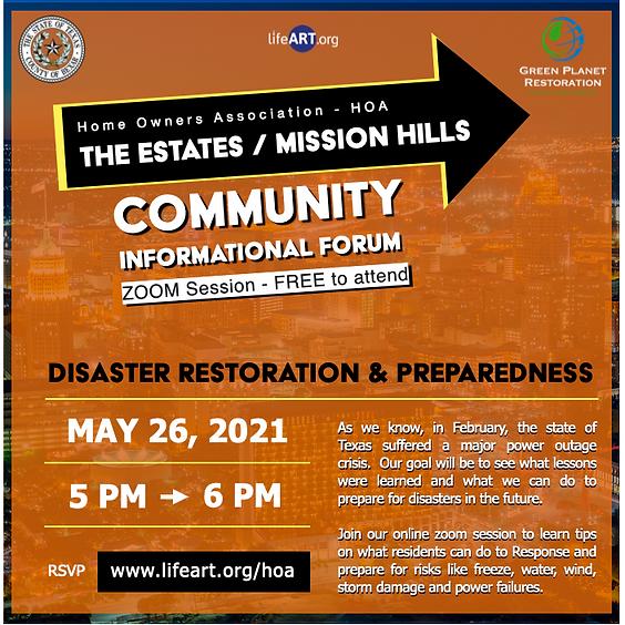 HOA - The estates / mission Hills - Informational Forum