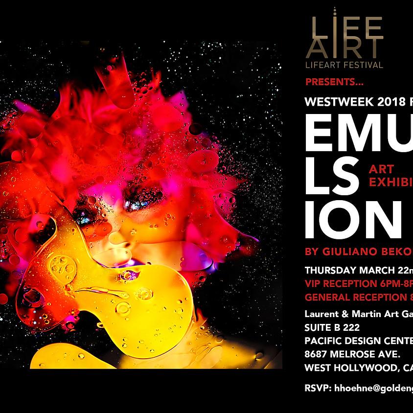 LIFEART - WESTWEEK 2018   Giuliano Bekor exhibit Echoes & Emulsion