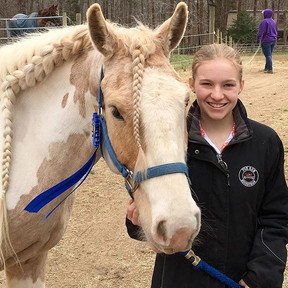 Laura and Merlin with Dressage!