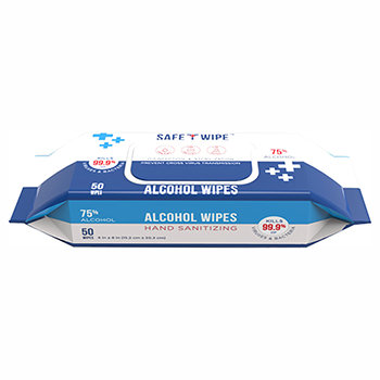 Case of Alcohol Wet Wipe - 24 packs of 50 wipes