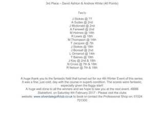 Winter Open Series Event #4