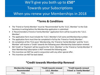 £100 New Member Introduction Programme