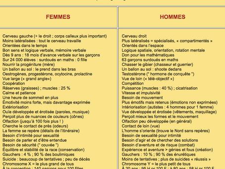 Existent-ils des différences cognitives entre les hommes et les femmes