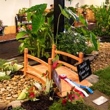 Topsfield Garden Club display in the Flower Barn, Topsfield Fair