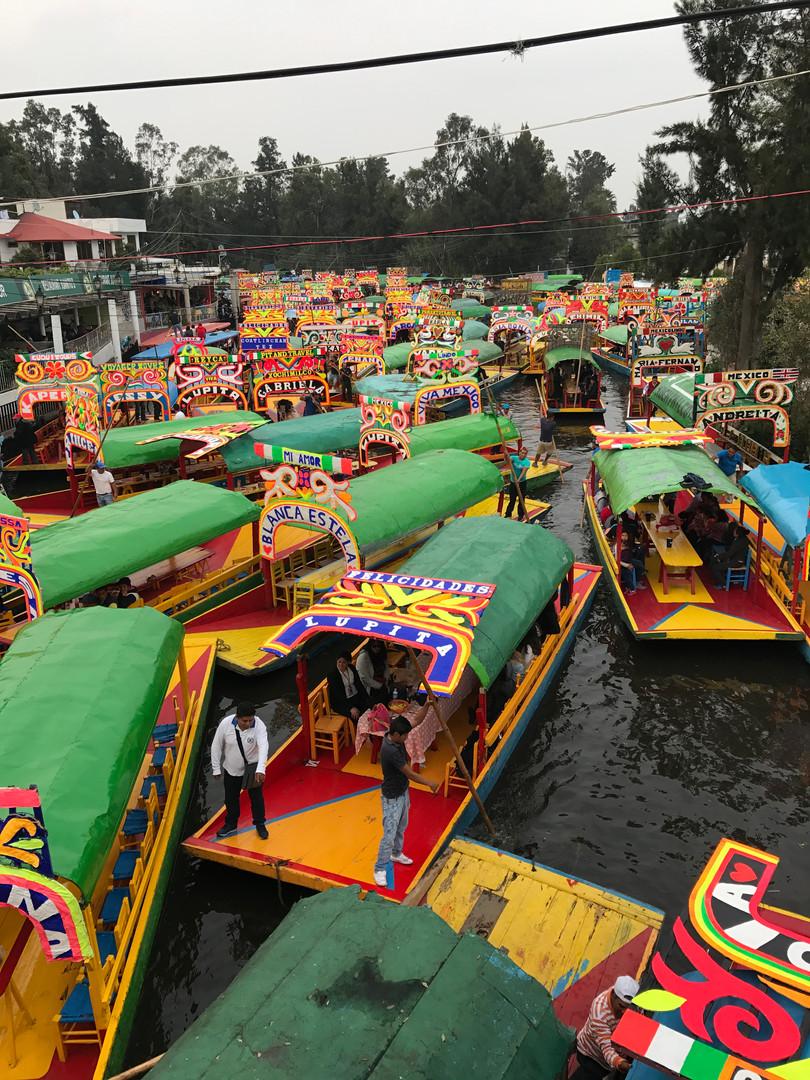 Boat Traffic at Xochimilco