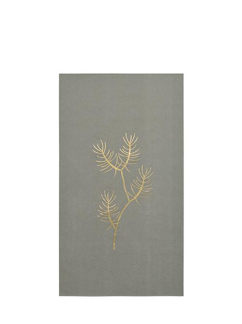 Servietten olive grey