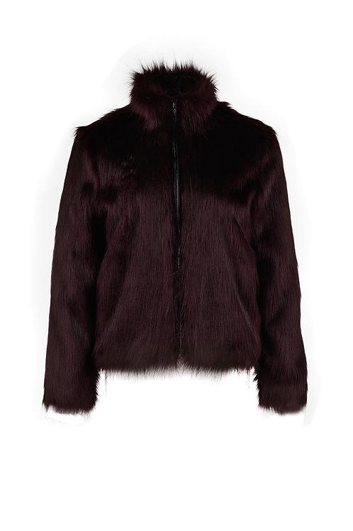 Fake Fur Jacke forrestgreen