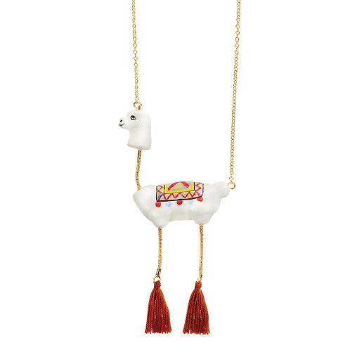 Nach Lama with Pompom Necklace