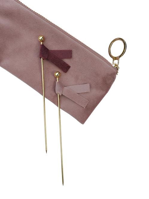 Topper Kuchen Samt 6er SetSamtgold rosa