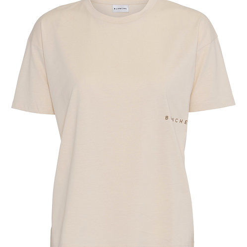 BLANCHE Main light T-shirt macadamia