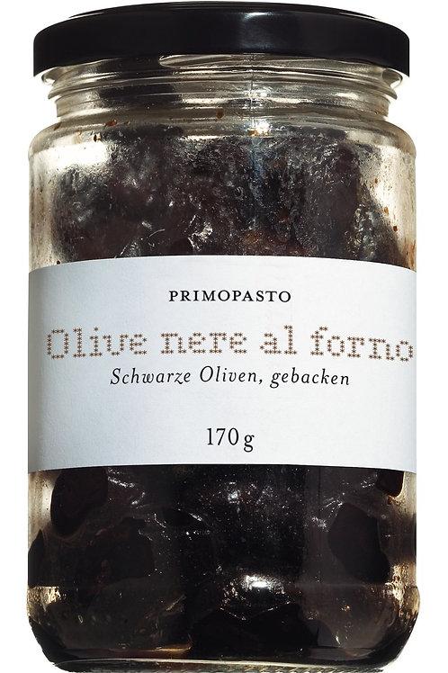 Olive nere al forno PRIMOPASTO, ITALIEN  gebackene schwarze Oliven, mit Kern