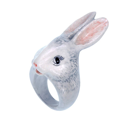 NACH Grey Rabbit Porcelain Ring medium