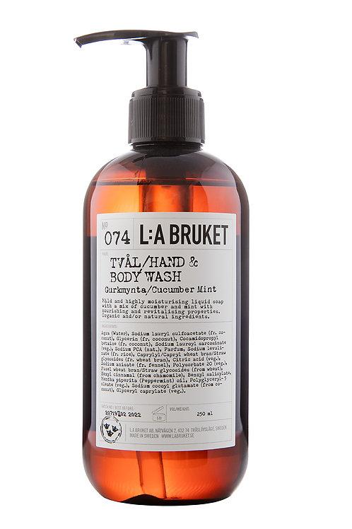 L:A Bruket 074  Hand & body wash Gurke Mynte, 250 ml