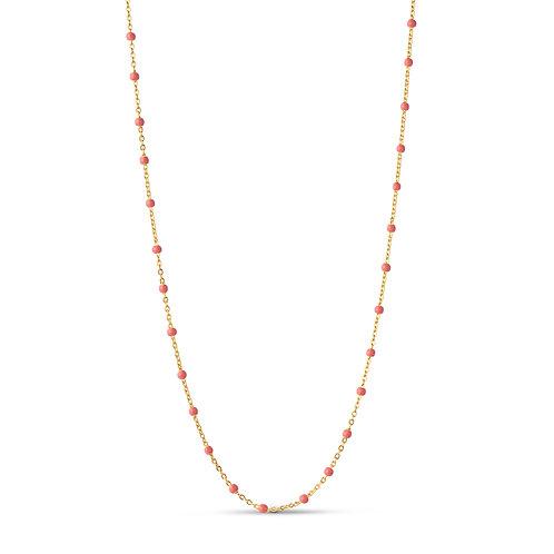 Enamel Lola Necklace coral