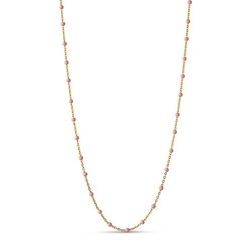 Enamel Necklace Lola light Pink