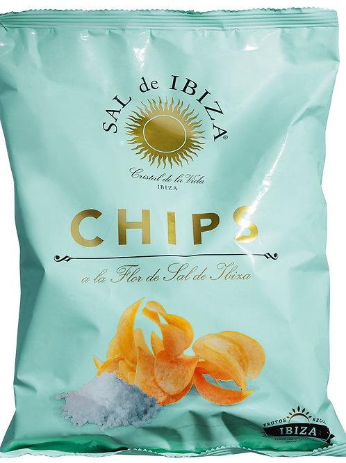 Chips a la Flor de Sal de Ibiza SAL DE IBIZA, SPANIEN  Kartoffelchips mit Sal de