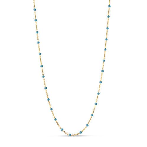 Enamel Lola Necklace blue