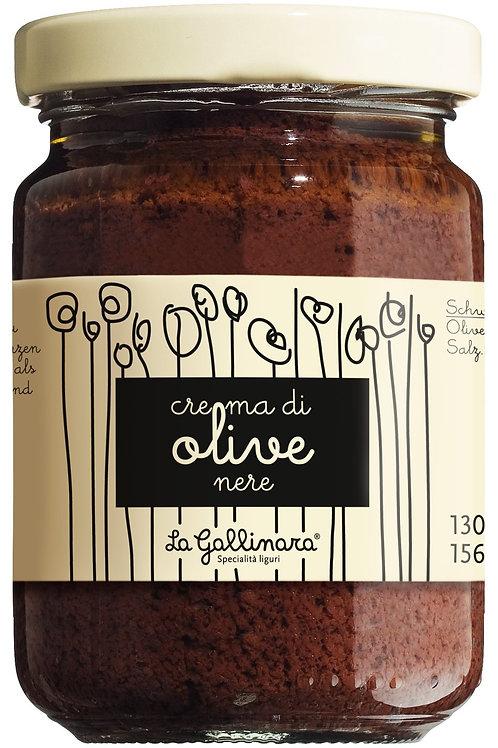 Crema di olive nere LA GALLINARA, ITALIEN  Schwarze Olivencreme