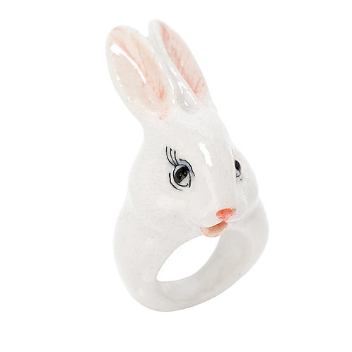 NACH White Rabbit Porcelain Ring medium