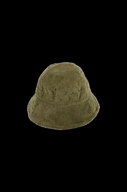 BUCKET HAT corduroy army
