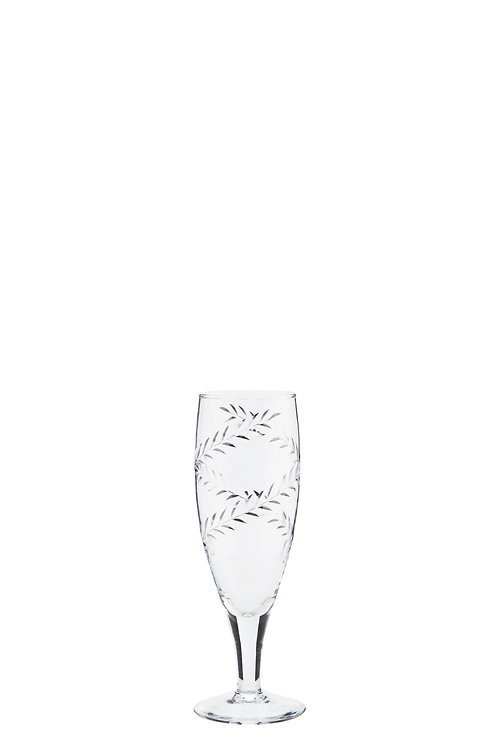 CHAMPAGNE GLASS W/ CUTTING