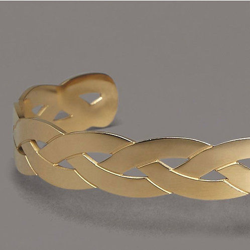 Armreifen breit Gold