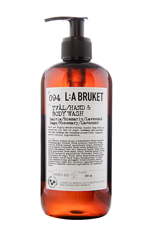 L:A Bruket 094 Hand & Body wash, Sage/Rosemary/Lavender, 450 ml