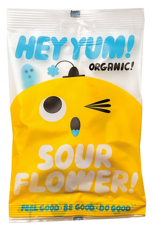 Sour Flower HEY YUM! Saures Fruchtgummi, Display, Bio