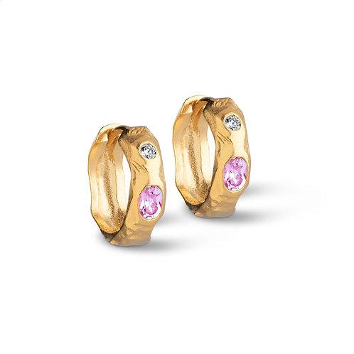 Enamel Leonora Hoops Earring